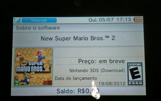 Após divulgar preço de R$ 68 por game, Nintendo afirma que o valor será divulgado em breve (Foto: Gustavo Petró/G1)