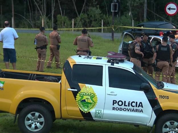Cinco morrem em confronto com a Polícia Militar, em Quatro Barras, em 11 de fevereiro (Foto: Reprodução/RPC)