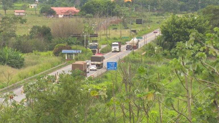 Dnit fiscaliza veículos em dois pontos do estado.  — Foto: Reprodução/Rede Amazônica