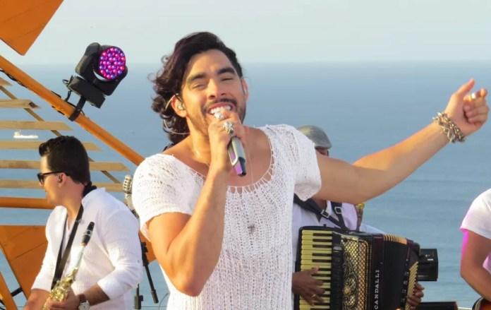 Gabriel Diniz gravou em Noronha o DVD GD na Ilha — Foto: Ana Clara Marinho/TV Globo