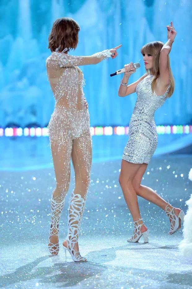 Karlie Kloss e Taylor Swift (Foto: AFP / Agência)