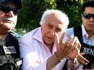 Roger Abdelmassih horas após ser preso em Assunção, no Paraguai. Médico condenado a 278 anos de prisão deve chegar a São Paulo nesta quarta (Foto: Divulgação/Secretaria Nacional Antidrogas do Paraguai)