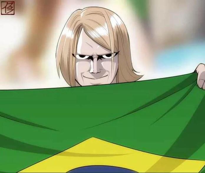 Yury Torsky, o 'Torcedor misterioso' que virou meme com bandeira do Brasil, entra no jogo e agradece mensagens  (Foto: Reprodução)