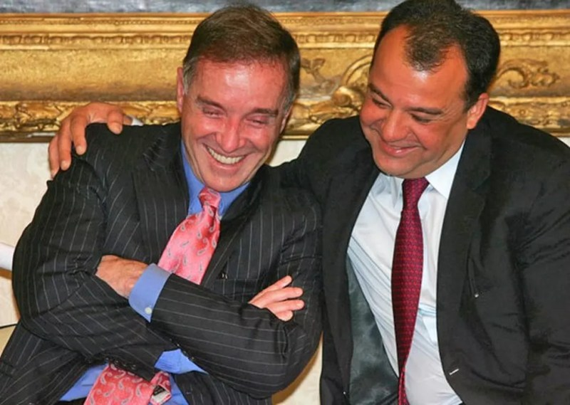 Eike Batista e Sérgio Cabral (Foto: Fábio Motta/Ae (2008))