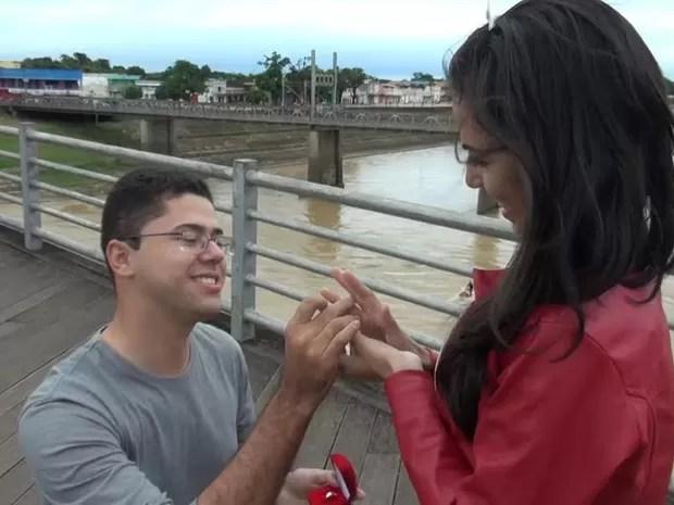 Pedido de casamento (Foto: Arquivo pessoal)