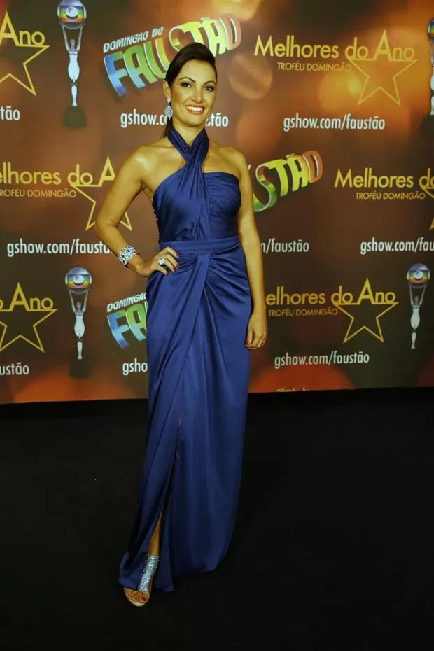 Patrícia Poeta no Prêmio Melhores do Ano (Foto: Felipe Assumpção e Leo Marinho / AgNews)
