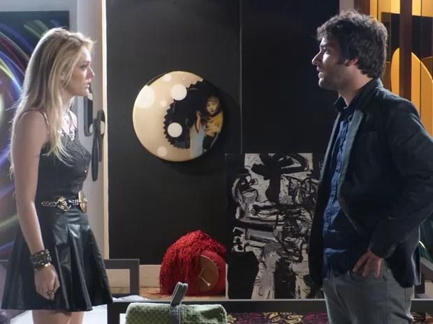 Megan e Davi descutem e hacker chama loira de infantil (Foto: Geração Brasil/TV Globo)