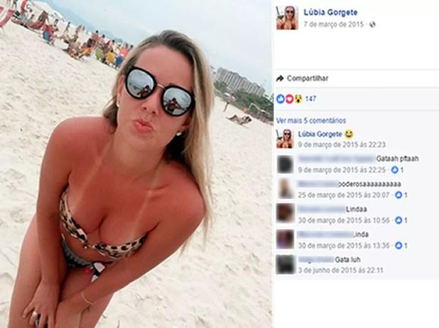 Lúbia Gorgete é acusada de integrar quadrilha de roubo a banco em MT (Foto: Facebook/Reprodução)