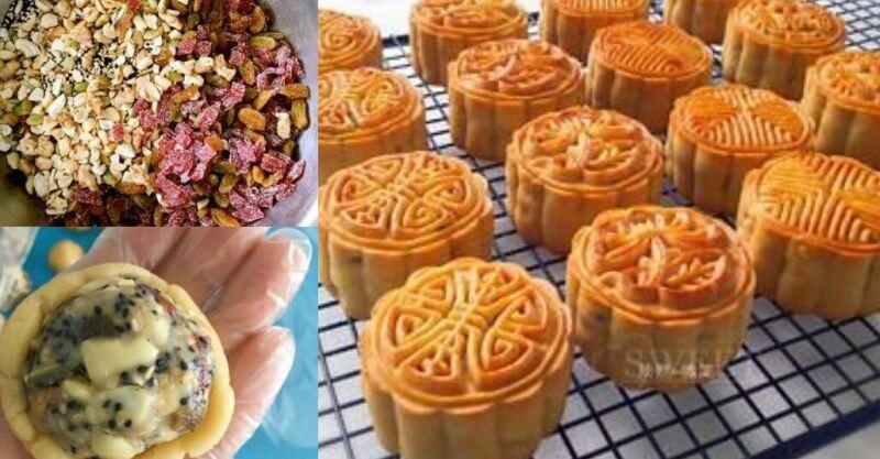 五仁月餅蜂蜜版,不用轉化糖漿版本,很好吃。-haoyunmyt.com - 好運加油贊