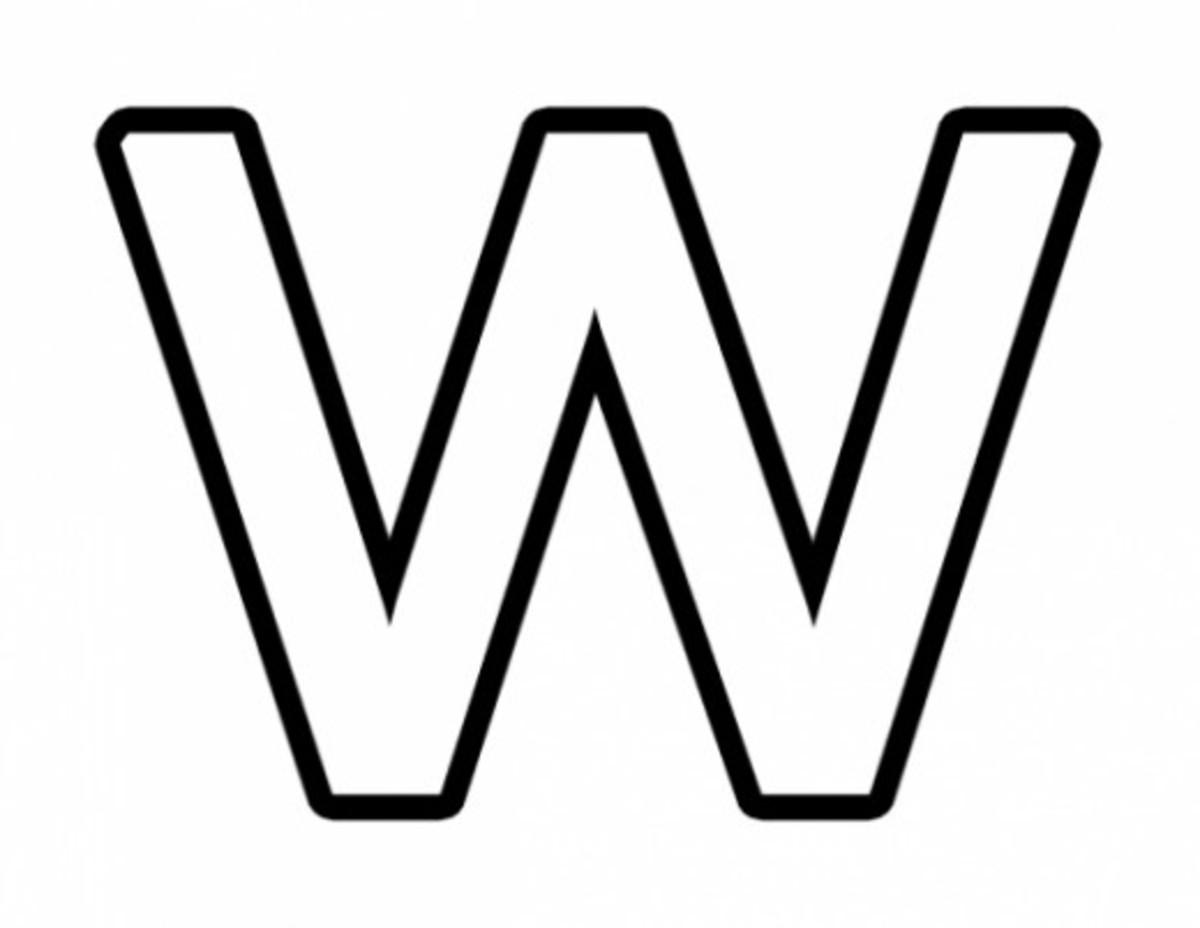 Alphabet Coloring Image W