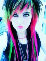emo girls with rainbow hair
