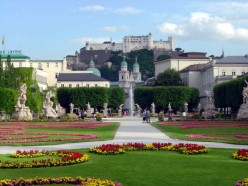 Fortress Hohensalzburg as seen from the Mirabell garden. Photy by Amidiarone distributed under CC AttributionsShareAlike 3.0