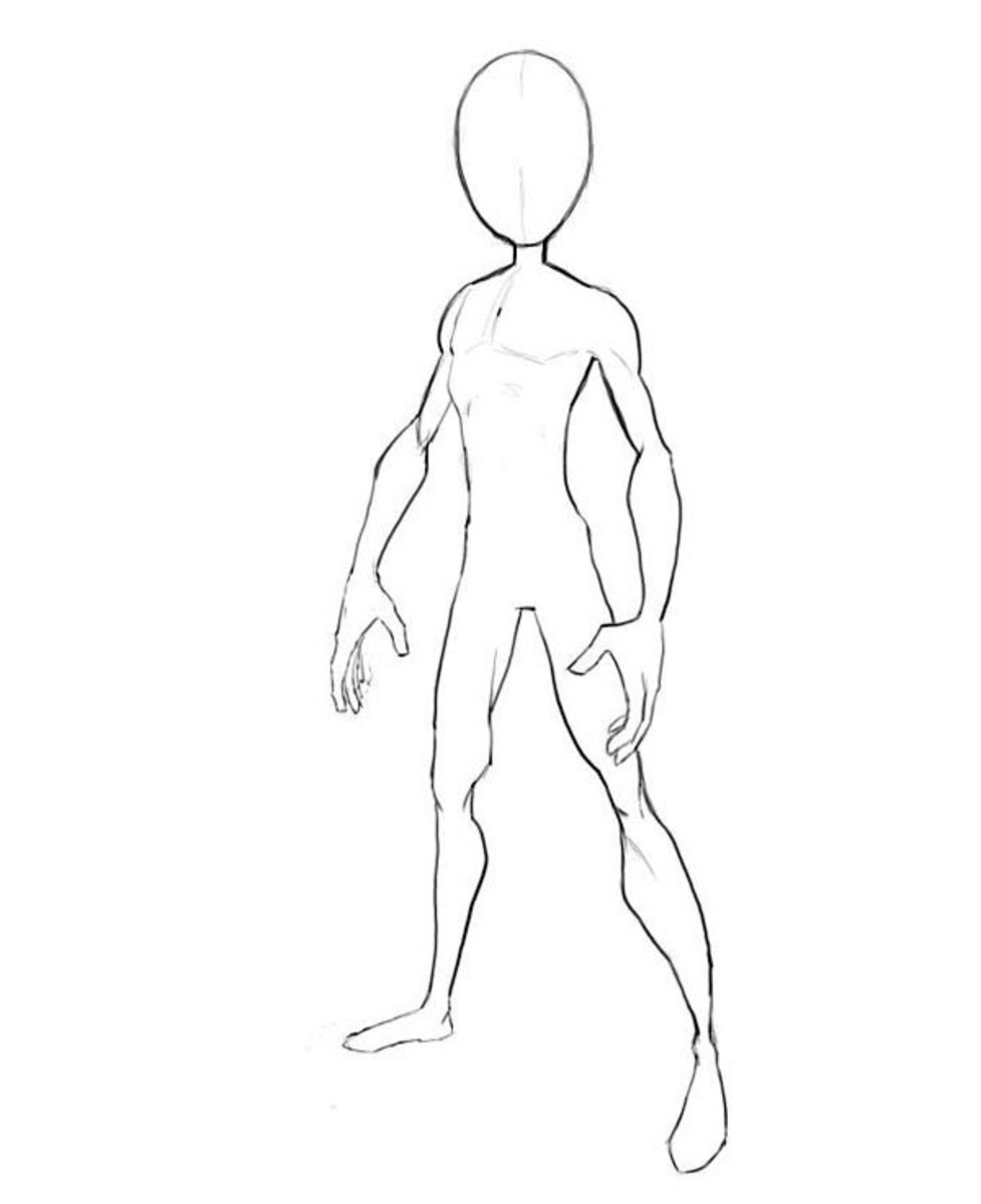 Superhero Body Outline Sketch Templates