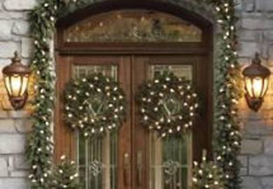 Front Door Christmas Lights