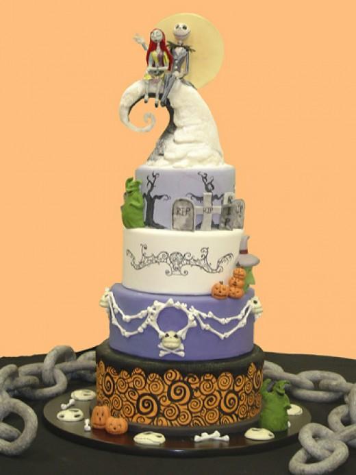 Best Halloween Wedding Cake  Halloween Wedding Cake Ideas  Best Collections Cake Recipe