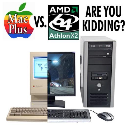 A 1986 Mac beats a 2007 PC