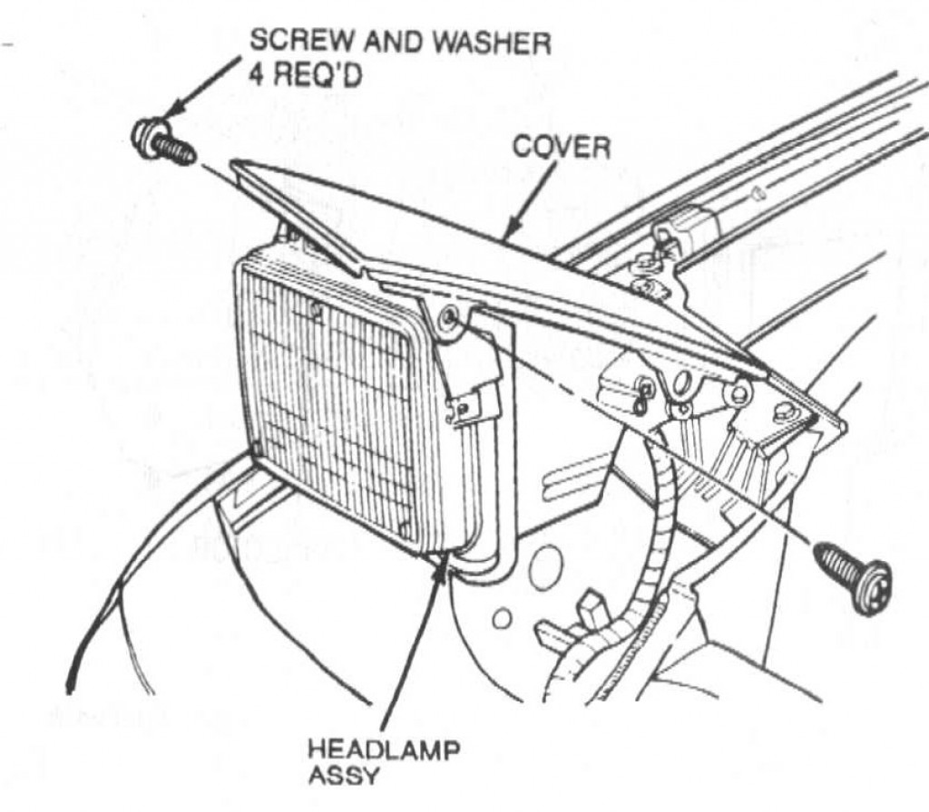 How to Remove a Headlight and Motor in a 1991-94 Mercury Capri