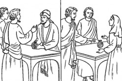 Ananias And Sapphira Coloring Page Sketch Coloring Page