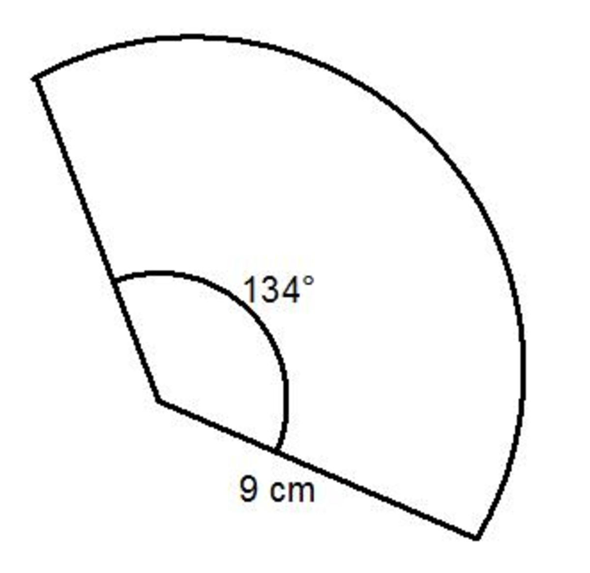 How to work out the arc length and perimeter of a sector