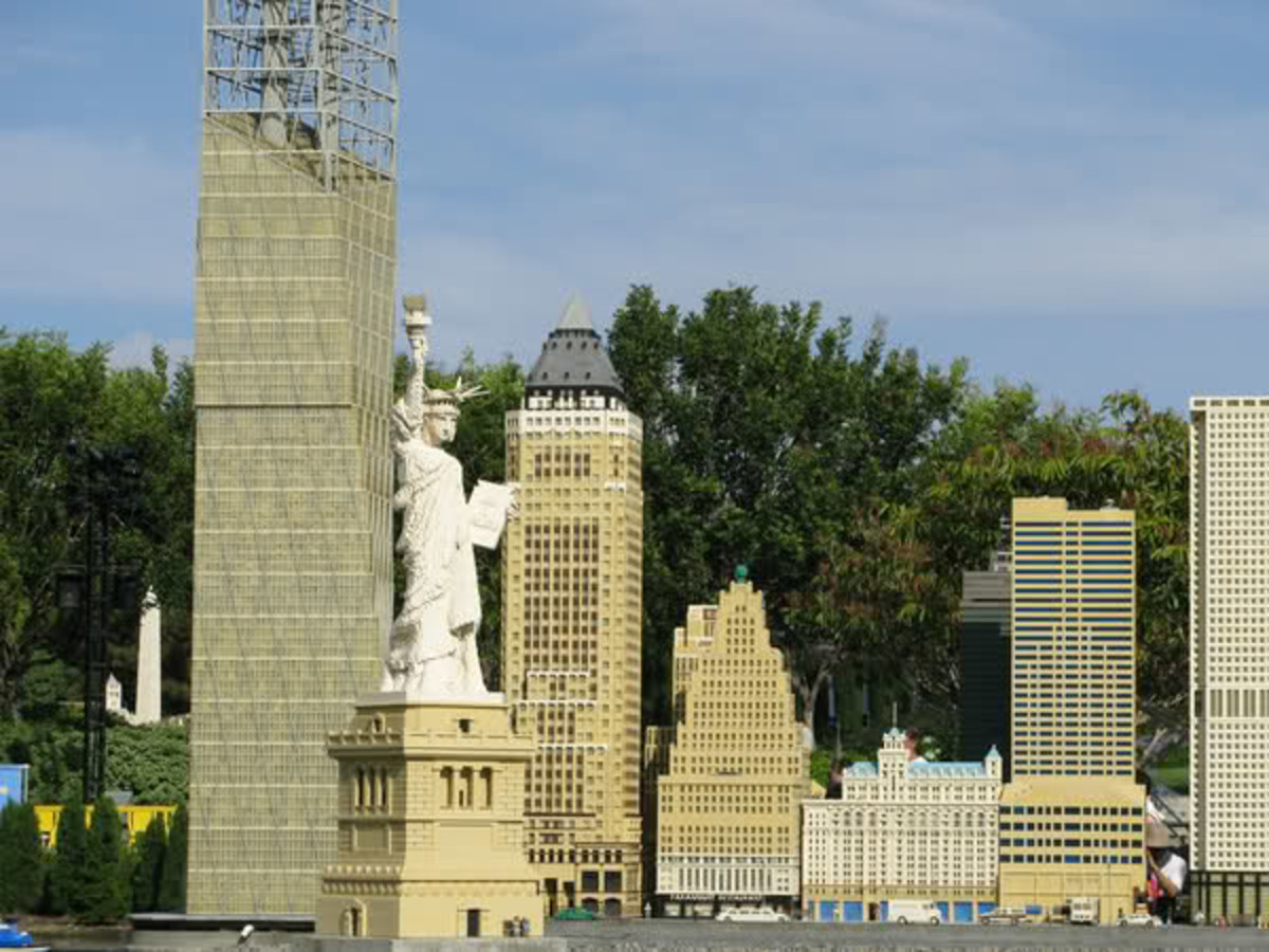 The statue of liberty in legoland Denmark.