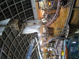 The front of the replica of the Santa Maria at West Edmonton Mall, Alberta, Canada.