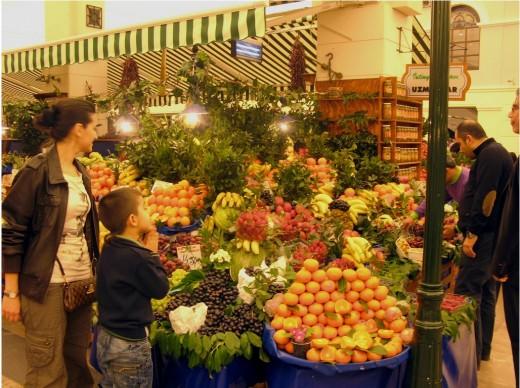 Fruit Section of Cevahir Mall.