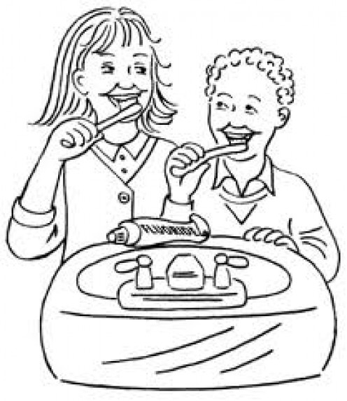 Free Coloring Pages Of Personal Hygiene Habits