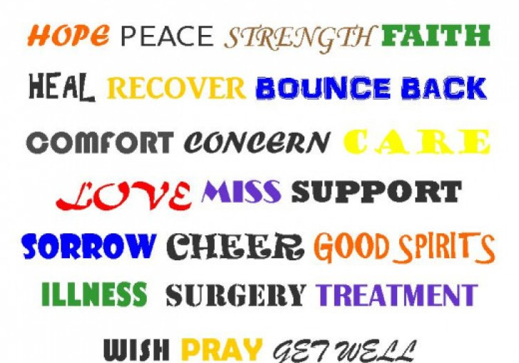 Words For A Get Well Soon Card Message Pull Three Or Four Words