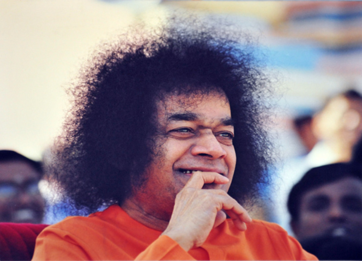 The rainbow hues of Swami's laughter...