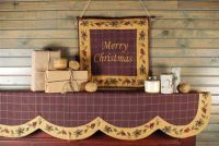 Christmas Mantel Scarves