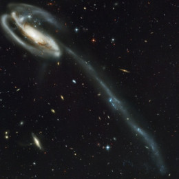 Galaxy-with-tail-of-stars  This-one-looks-like-a-UFO