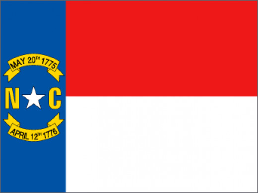 That the flag of North Carolina shall consist of a blue union, containing in the center thereof a white star with the letter N in gilt on the left and the letter C in gilt on the right of said star, the circle containing the same to be one-third the