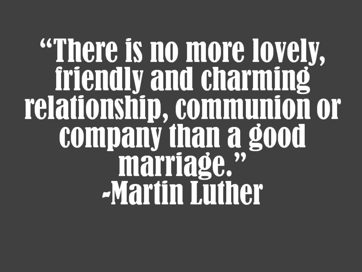 Image result for martin luther on marriage quote