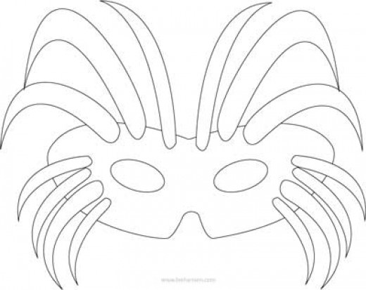 Masquerade Mask Template Sketch Coloring Page