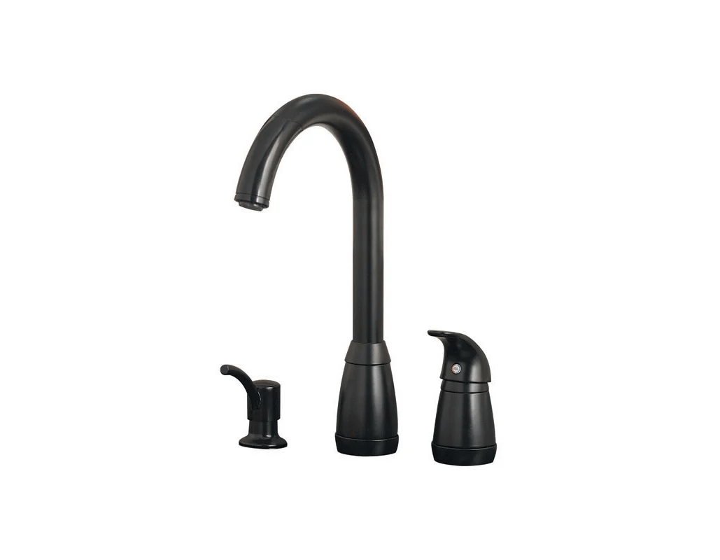 black kitchen faucets pull out spray bar height table faucet 526 50bk in by pfister