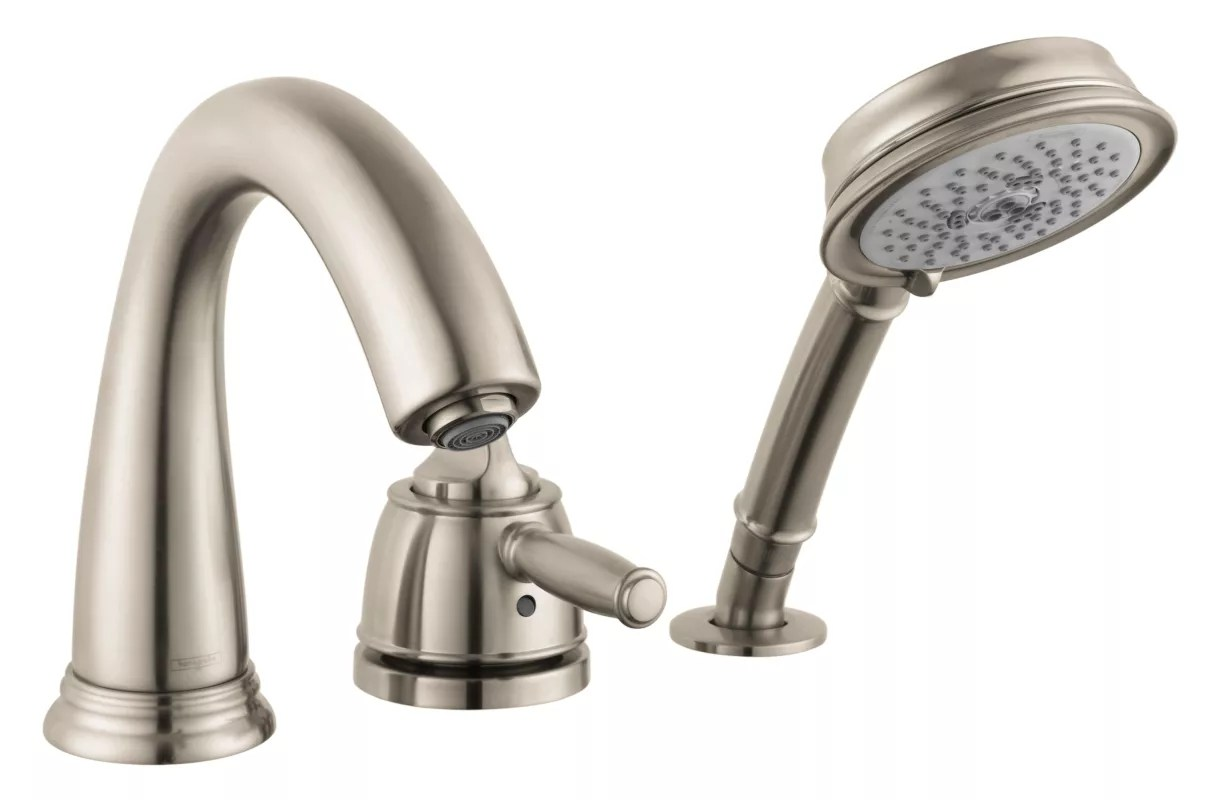 hansgrohe allegro e kitchen faucet track lighting for 04134820 brushed nickel swing c tub filler