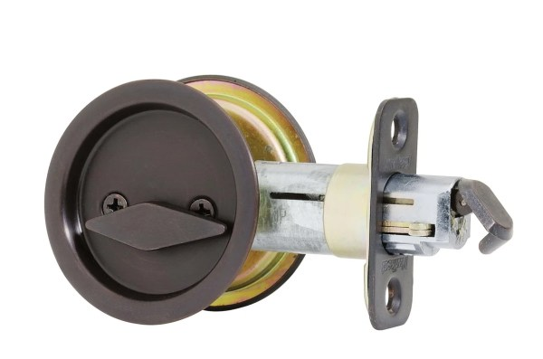 Kwikset 335-10b Oil Rubbed Bronze Privacy Bed Bath Pocket Door Lock