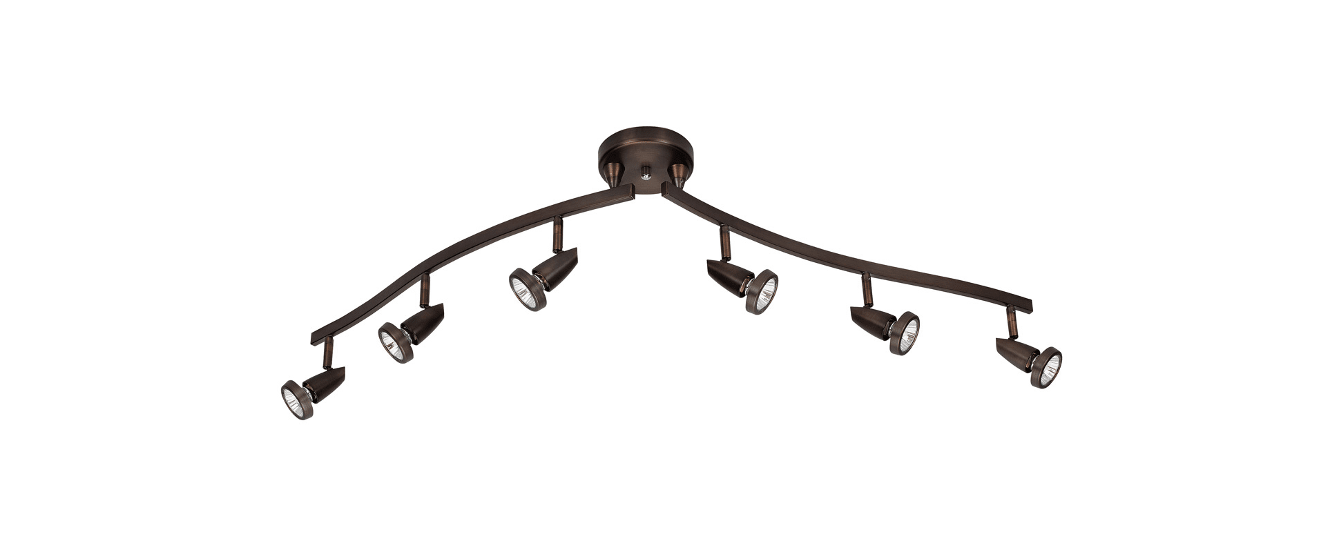 Access Lighting Brz Bronze Mirage 6 Light Semi Flush