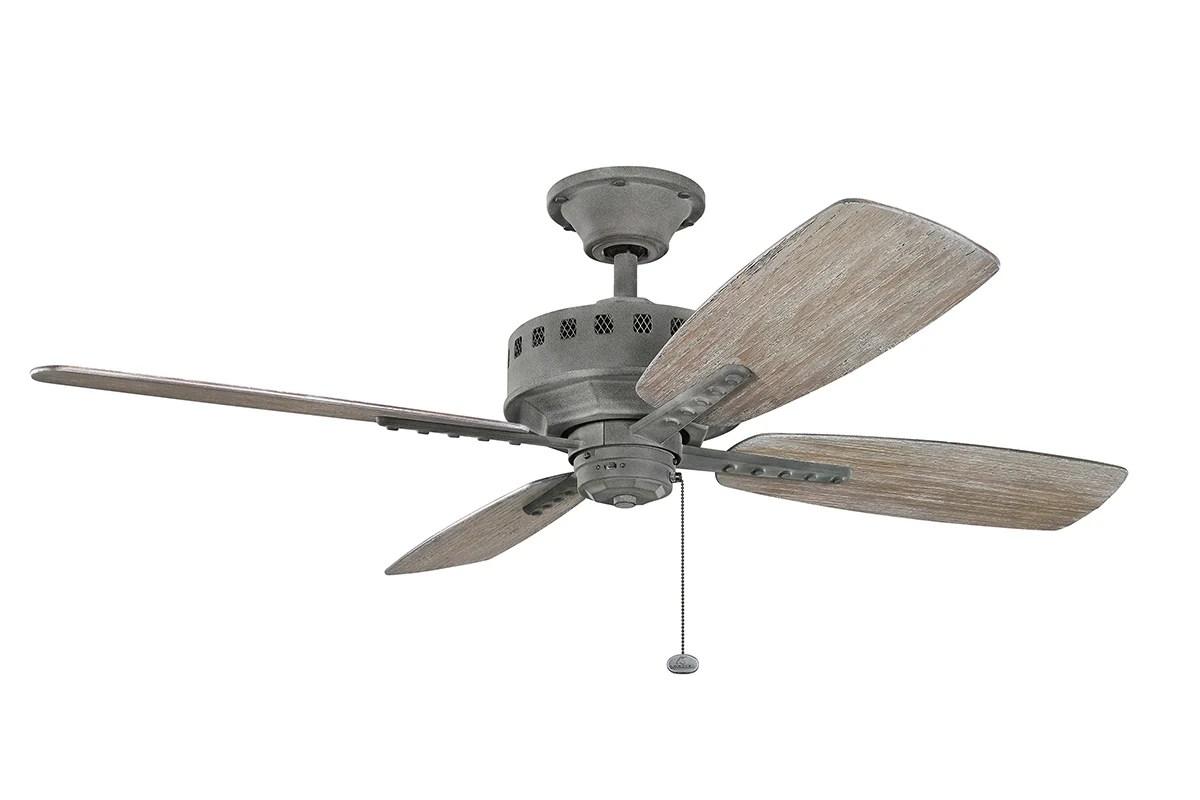 "Kichler 310135WZC Weathered Zinc 52"" Indoor Ceiling Fan"
