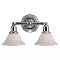 Sea Gull Lighting 44061-05 Chrome Sussex 2 Light Bathroom ...
