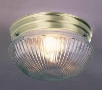 "Volume Lighting V7056-1 Antique Brass 1 Light 7"" Flush ..."