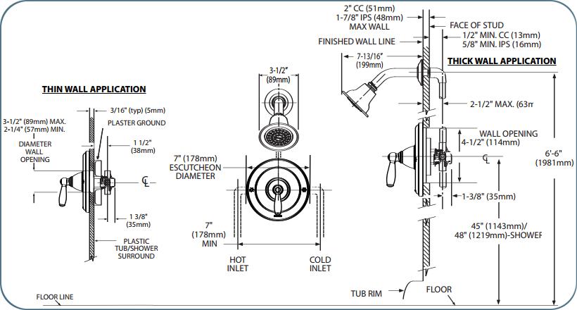 Moen T2152 Chrome Single Handle Posi-Temp Pressure