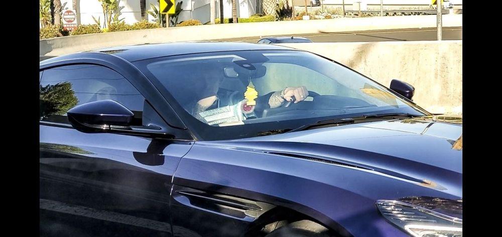 Megan Fox in the car with Machine Gun Kelly