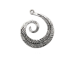 Zola Elements Antique Silver (plated) Feather Swirl Focal
