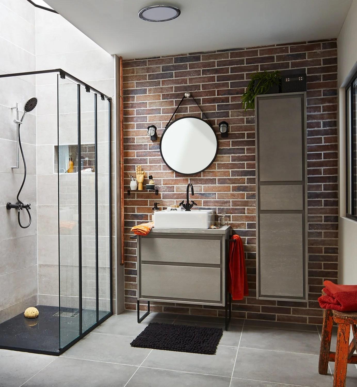 salle de bains blanc beige naturel brun marron sensea industriel