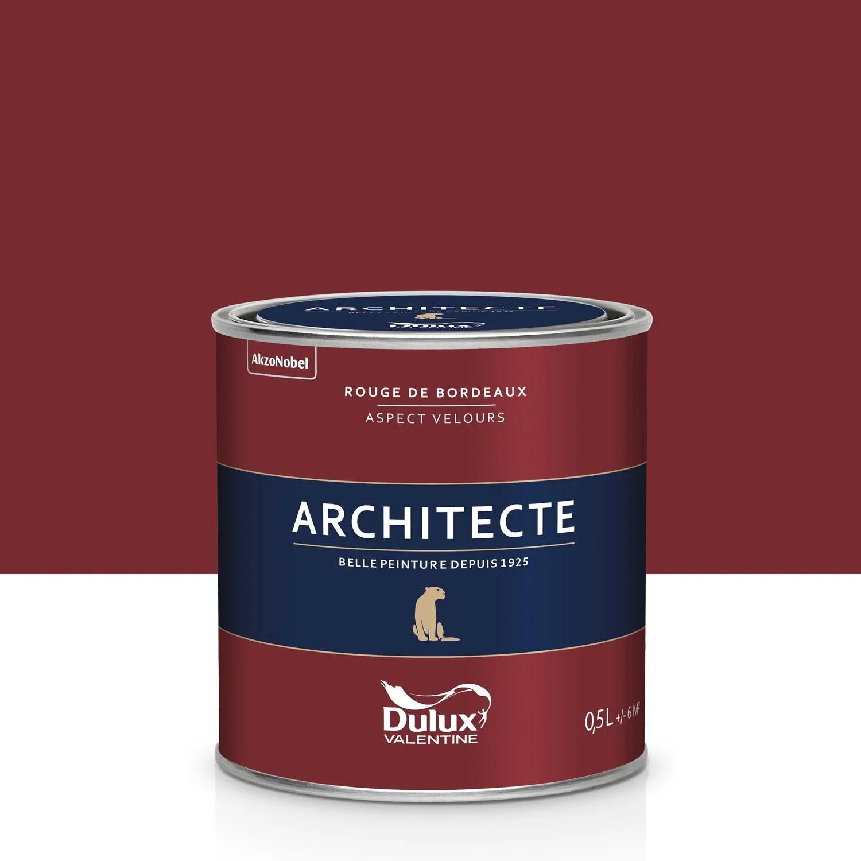 Peinture Rouge Bordeaux Velours DULUX VALENTINE Architecte