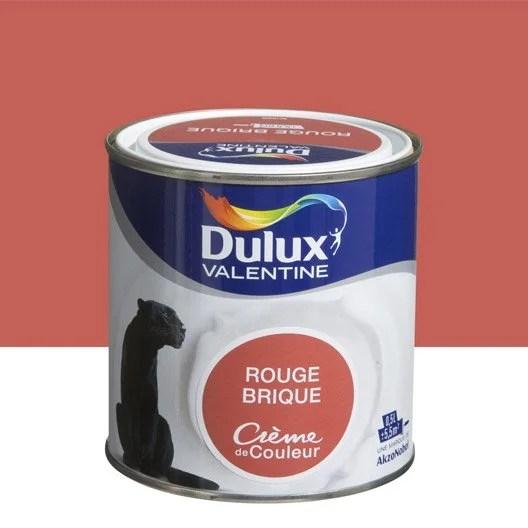 Peinture Rouge Brique DULUX VALENTINE Crme De Couleur 05