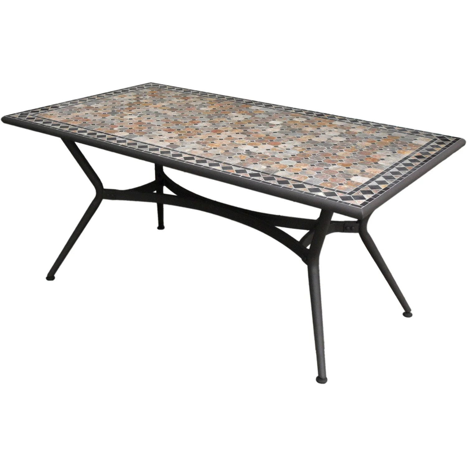 Table de jardin Marocco rectangulaire anthracite 6 personnes  Leroy Merlin
