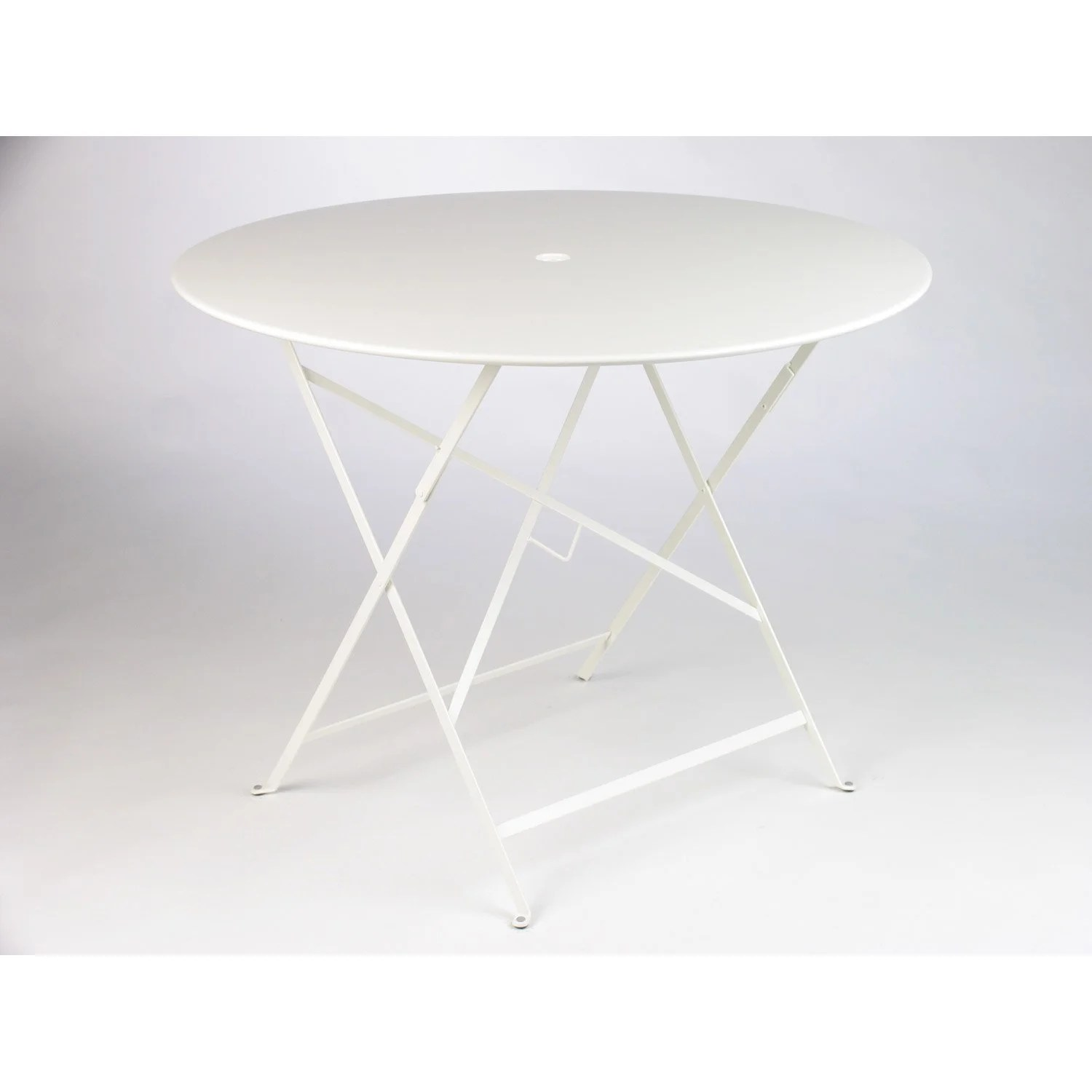 Table Jardin Blanche Ronde | Table Ronde A Rallonges Design Mr66 ...