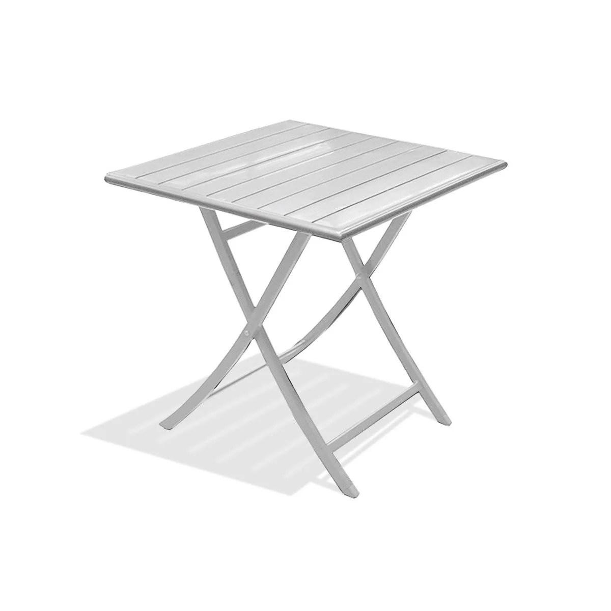 Table De Jardin Aluminium Ice Gris | Table De Jardin Marius Carrée ...